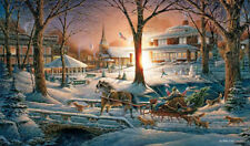 """TERRY REDLIN  """"Racing Home""""  24"""" X 14"""" Signed Print"""
