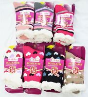 Ladies Soft Fleece Dual Layer 4.7Tog Socks Fluffy Winter Warm Slipper BootsUK4-7