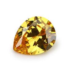 13X18mm AAAAA Yellow Sapphire Gems 18.25ct Pear Faceted Cut VVS Loose Gemstone