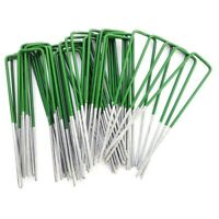 Weed Fabric Galvanised Staples Garden Turf Pins Securing Pegs U Artificial Grass
