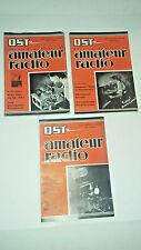 1938 QST Amateur Radio Magazine, 3 Issues, September, November, December