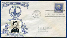Scott #877 Walter Reed Famous Americans 5c First Day Cover FDC Crosby cachet