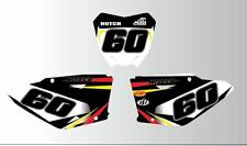 SUZUKI RM VPM 65 85 125 250 450 Number Boards stickers-GRAPHICS-Backgrounds-MX