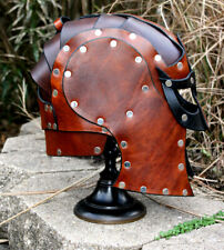 *RTS* Viking Leather Helmet Fantasy Mask Armor SCA LARP Helm Medieval Cosplay