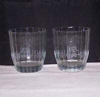 SET OF 2 CROWN ROYAL ROCK GLASSES  MADE IN ITALY  L@@K