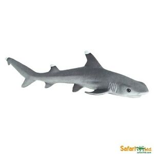 WHITE TIP REEF SHARK detailed sealife underwater marine model toy fish 12 cm NEW