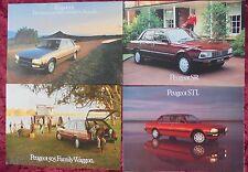 Four 1982-84 PEUGEOT 505 SR & WAGON 2p Australian Brochures & STI 6p Brochure