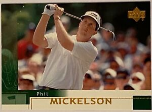 2002 Upper Deck Golf PHIL MICKELSON #41 Base Rookie Card RC 2021 PGA CHAMP! 1B