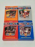 NBA HOOPS 1990 Series 1 CollectABooks Boxes #1-4 Michael Jordan Bird Magic
