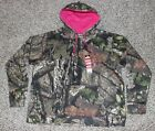 New MOSSY OAK Hoodie Camo Pink Ladies S M L XL 2XL Womens Hooded Sweatshirt