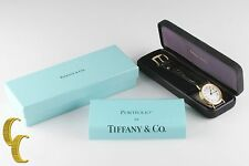 Tiffany & Co. Men's SS Gold Electroplate Portfolio Quartz Watch w/ Box & Papers