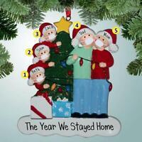 2020 Christmas Tree DIY Add Name Santa Ornaments Family Xmas Hanging Decor Hot