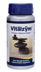 Vitalzym Extra Strength Systemic Enzymes 360 Liquid Gel Caps - World Nutrition