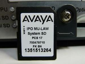 Avaya IP Office 500 V2 Business Phone System Control Unit 700476005 w/System SD