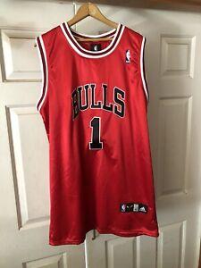 DERRICK ROSE CHICAGO BULLS NBA JERSEY NWT AUTHENTIC MEN 52 ADIDAS #1 VTG