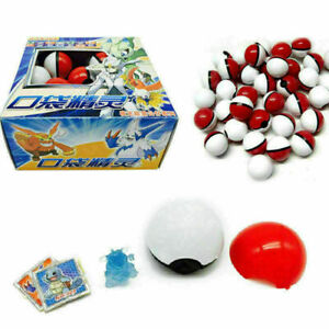Cute 36pcs Red Go Pokeball Pop-up Ball & Mini Monsters Figures Kids Toy