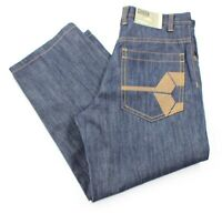 South Pole Mens Size 34 x 30 Relaxed Fit RN82628 Dark Blue Jeans