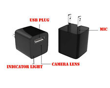 HD 1080P Hidden Spy Camera Real USB Wall AC Plug Charger Built-in 8GB Memory