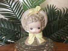 New Listing*Rare* Vintage Josef Originals Girl in Yellow Bow Porcelain Head Vase