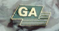 GA initials lapel pin pre-owned