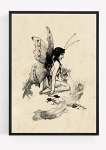 Vintage Fairy Fairies Print Picture Wall Art Unframed Home Decor Vintage A4 1