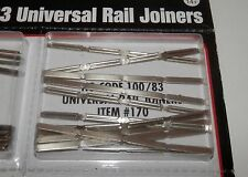 Atlas HO Scale Nickel Silver Code 100/83 Rail Joiners (48 pieces) #170 NIP