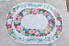 """CLAIRE MURRAY FLOWER GARLAND OVAL WOOL HOOKED RUG 36"""" X 47"""""""