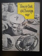 1950's How to cook the Prestige way instruction and recipe booklet