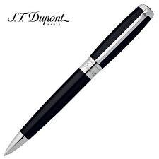 S.T. Dupont D Line Ball Point Pen, Black Lacquer & Silver Accents, 417674, NIB