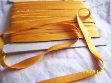ANCIEN RUBAN OU BIAIS TOUT EN SOIE DE LYON. ART DECO. COULEUR orange. N°129