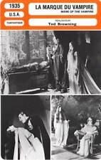 FICHE CINEMA : LA MARQUE DU VAMPIRE - Barrymore,Lugosi 1935 Mark of the Vampire