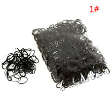 1000Pcs Baby Girl's Hair Braiding TPU Rubber Hair Bands Holders Elastics Tie Gum