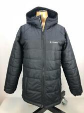 Columbia Boy''s Tree Time Insulated Water-Resistant Jacket Black Large *Defect*