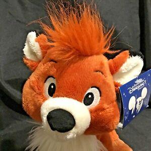 Disney Fox and the Hound Tod 25cm Plush Soft Stuffed Toy Disneyland Paris