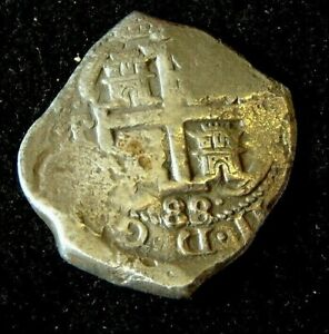 Super 8 REALE or Piece of 8 1688 Potosi TWO DATES  - ASSOCIATION Shipwreck 1707