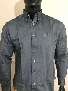 Ralph Lauren Men's Oxford Shirt Charcoal/Dark Grey 100% Premium Cotton