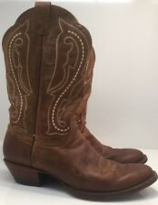 Ariat Scottsdale R Toe Brown Cowboy Weatern Boots Womens Size 8