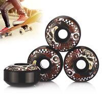 4pcs Roues Professionnelles Roues de Skate Noires et Rouges 52 x 30 mm