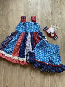 Persnickety Clothing Boutique Girls Adele Dress Set Outfit Size 3