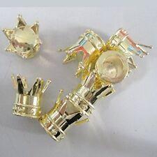 4 brand new élégant plaqué or couronne valve caps