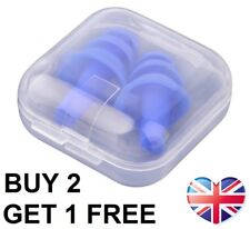 Soft Silicone Ear Plugs Foam Anti Noise Sleep Better Work Reusable NEW IN BOX UK