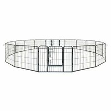 ALEKO Heavy Duty Pet Playpen 16 Panel Dog Kennel Exercise Cage Fence 32X24 In
