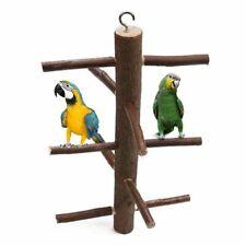Parrot Branch Stand Bird Rack Wooden Platform Parakeet Budgie Climbing Perch