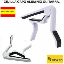 CEJILLA CAPO ALUMINIO COLOR BLANCO PARA GUITARRA ESPAÑOLA ELECRICA ACUSTICA