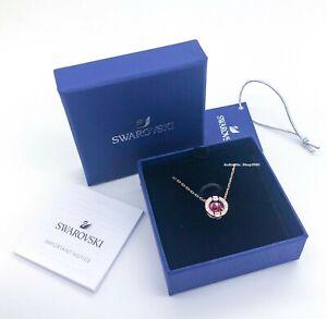 SWAROVSKI Rose Gold Sparkling Dance Around Crystal Necklace 5279425 5279421