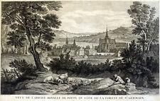 POISSY Kloster St. Germain sehr grosser Kupferstich nach Oudry, um 1750 Original