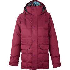 Women's Burton Ayers Down Snow Ski Snowboard Jacket Sangria Red Small S
