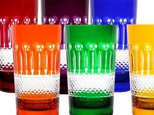 Longdrink Gläser, Römer Bleikristall, 6x (283OB) farbig sortiert Longdrinkgläser