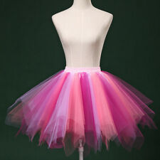 Sexy Tutu Womens Lady Pleated Gauze Colours Short Skirt Adult Dancing Skirt US