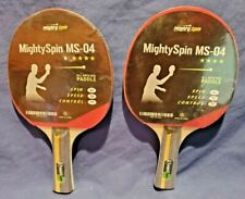 New listing Two MightySpin MS-04, 7-Ply Ping Pong Table Tennis Paddle Beginner to Advanced